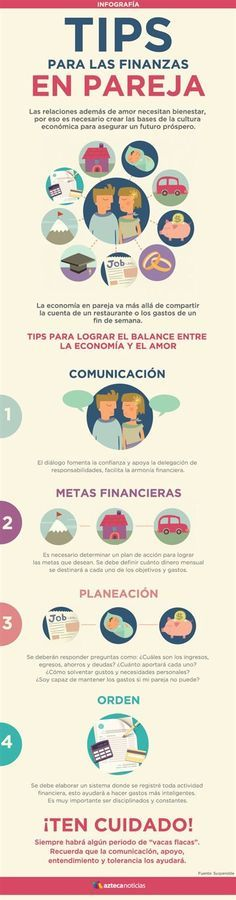 Infografía: Consejos para las finanzas en pareja Coaching, Financial Tips, Relationship Tips, Better Life, Personal Finance, Online Business, Business Tips, Budgeting, How To Make Money