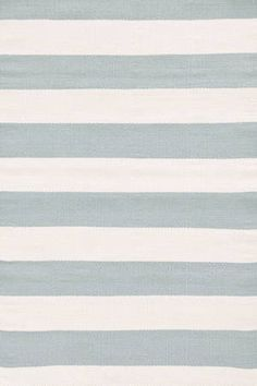 Catamaran Stripe Light blue/ivory indoor outdoor rug by Dash & Albert. 6x9 $298