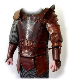 As said perviously I dont see the Unconquered being able to fulfil their role with chain or metal armour but the left arm of this armour is very nice.  Leather armour Dragon