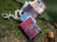 Harry Potter Book Bracelet UK Editions by MiniBooksJewelry on Etsy, $18.99