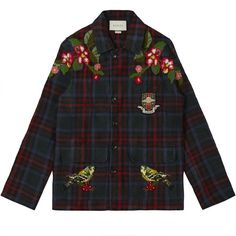 Gucci x DSM Men's Tartan Jacket (XR701) ($3,280) ❤ liked on Polyvore featuring men's fashion, men's clothing, men's outerwear, men's jackets, mens plaid jacket, mens tartan jacket, gucci mens jacket and mens jackets