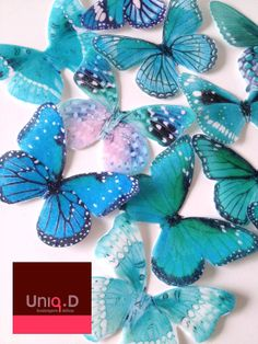 50 edible butterflies  wedding cake decorations  FREE by uniqdots, $40.00