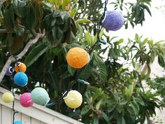 Paper Mache Party Lights