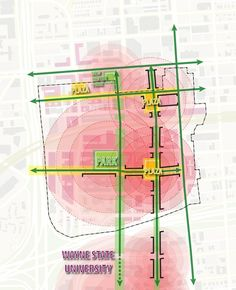 TechTown District Plan Proposal / Sasaki Associates || i have so many diagrams that look like this ... :/
