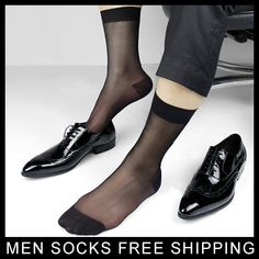 On sale! Male Suit Sexy Socks Sheer Men's Formal Socks High quality Man At play men SM socks Free shipping