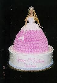 My mom made me a princess Barbie cake like this (but better!) when I was 7!!! It was beautiful and I'll never forget it :)