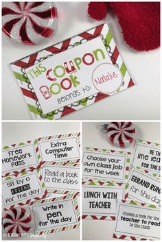 Free printable!!  Are you looking to give your students something for Christmas, but don't want to spend a lot of money? Here is a GREAT solution!  Give your students the Christmas Coupon Book. The coupon book contains coupons for items that cost you nothing, but will mean a lot to your students.