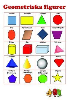 lek med geometriska former Kids Math Worksheets, Preschool Printables, Math Activities, Preschool Activities, Memory Games For Kids, Math For Kids, Abacus Math, Education Galaxy, Learn Swedish