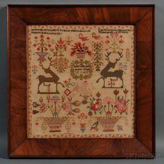Love love love! English Needlework Sampler | Sale Number 2663B, Lot Number 387 | Skinner Auctioneers