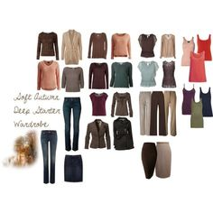 An example of a basic Soft Autumn Deep basic wardrobe perfect for a Soft Natural. Prints, Accessories, and Makeup to be continued......