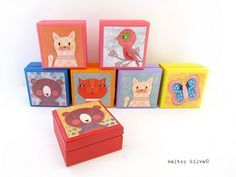 Asst Animal Boxes - Walter Silva