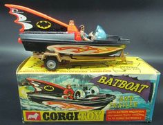 1966 Batboat & Trailer diecast vehicle by Corgi:
