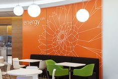 GlaxoSmithKline - Large-scale environmental graphics for the US headquarters of the global pharmaceuticals and consumer healthcare company. Agency: Pentagram