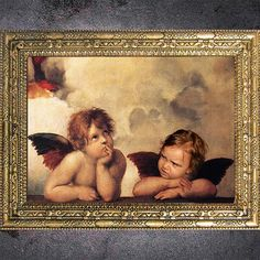 Custom Raphael Angels Digital Portrait From Your by dasfolDesign Raphael Angel, Digital Portrait, Come And See, Etsy Store, Your Photos, Angels, Artwork, Gold, Painting