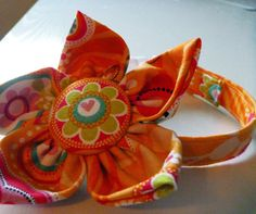 Orange Marmalade Collar & Flower  Made to Order by katiesk9kollars, $16.00