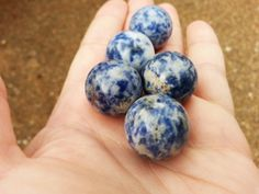 Sodalite A Grade Sphere ~ One 20mm Reiki infused crystal ball, sphere, marble