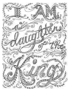 typographic coloring page - Christian Coloring Pages For Adults