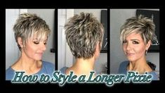 Short Hair With Layers, Layered Hair, Long Pixie, Pixie Cut, Purple Grey Hair, Sigma Brushes, Chocolate Work, Rose Gold Nails, Long Bangs