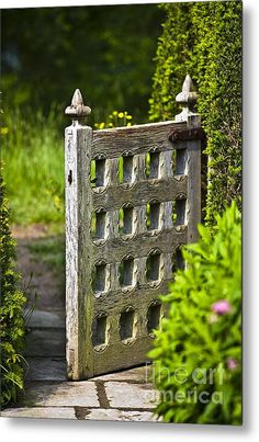Old Garden Entrance Metal Print By Heiko Koehrer-wagner