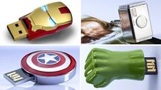 These little #Avengers flash drives are so cute! $40