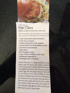 Rachael ray fish cake recipe