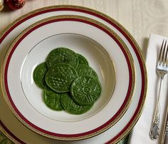Spinach corzetti. How's that for a great way to eat your spinach! This ...