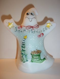 Fenton+Glass+Snow+Buddies+Christmas+Ghost+HP+Mouse+Figurine+Ltd+Ed+GSE+#8/12
