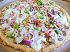 SPLENDID LOW-CARBING BY JENNIFER ELOFF: PULLED PORK WHITE PIZZA