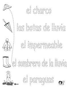 FREE ~ Spanish Worksheets for Kids ~ Spring Printout Spanish ~ Spanish Activities for Children ~ FREE