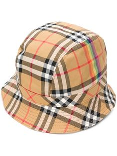 ec036559c3c BURBERRY RAINBOW VINTAGE CHECK HAT.  burberry
