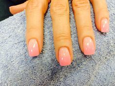 Ombré pink nexgen nails