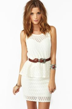 Laced Peplum Dress, I actually own a dress similar to this. Got it from Charlotte Russe