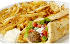 "Opa! Souvlaki's ""Pita Plate"" Centre, Menu, Nutrition, Plates, Chicken, Ethnic Recipes, Food, Kitchens, Menu Board Design"