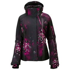 Salomon Brilliant Womens Insulated Ski Jacket 2013 Small/Black-Fancy Pink-Foundation