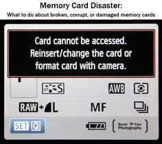 Memory Card Disaster: what to do about broken, corrupt, or damaged memory cards | Boost Your Photography