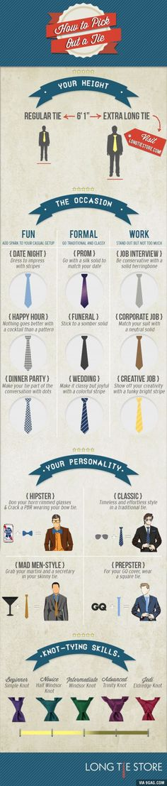 how to pick out a tie