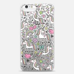 40726108d17 Casetify iPhone 6 Plus Case - Unicorn   Pink Hearts Rainbow Love Valentine  Doodle by Caja-Design