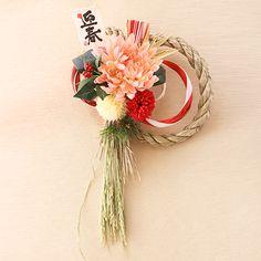 正月飾りしめ飾りしめ縄お正月飾りお正月リースお正月飾り紅白の正月飾り玄関