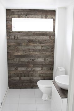 Remodel, rustic bathroom with pallet wall and corrugated tin. Rustic Bathrooms, Modern Bathroom, Bathroom Wall, Master Bathroom, Bathroom Ideas, Interior Exterior, Home Interior, Modern Furniture, Home Furniture