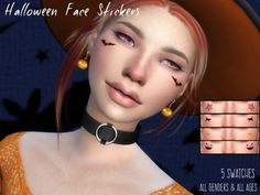 The Sims Resource: Halloween Face Stickers by Erurid • Sims 4 Downloads