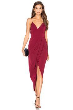 9c3f362d42e Shona Joy Core Cocktail Wrap Dress in Burgundy