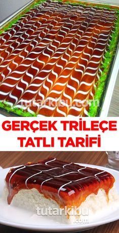 All Time Easy Cake : Real trilineal recipe, East Dessert Recipes, Easy Desserts, Delicious Cake Recipes, Yummy Cakes, Healthy Recipes, Repeat Crafter Me, Dessert Aux Fruits, Le Diner, Turkish Recipes