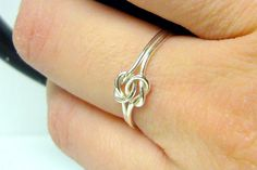 Double+love+knot+ring+infinity+knot+ring+Sterling+by+WatchMeWorld,+$27.00