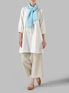 Light Blue Linen Tassel Scarf - Cloak yourself in the charming classic style. Comes in an array of colours.