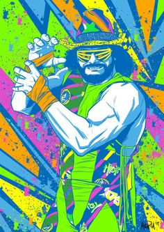 Macho Man Randy Savage by Michel Mulipola