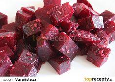 Červená řepa s římským kmínem a zázvorem recept - TopRecepty.cz Ale, Candy, Chocolate, Meat, Food, Ale Beer, Essen, Chocolates, Meals