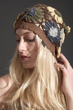 Anna Sui - Floral Afchan Crochet Hat