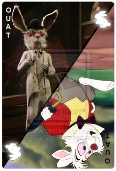 OUAT Card | White Rabbit by Giorgio [©2012-2014 jeorje90]