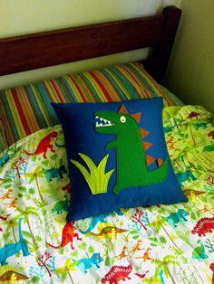 Dinosaur Felt Cushion
