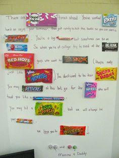 Graduation candy card
